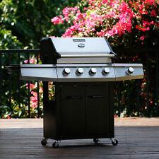 Barbecue BBQ a gas acciaio 5 bruciatori con ruote Campingaz griglia Master Cook