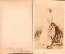 Impératrice Eugénie, épouse de Napoléon III, née de Montijo Vintage CDV albumen