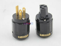 NEW 10 Pair C-029 IEC Connector + P-029 US Power Plug for Audio  Black