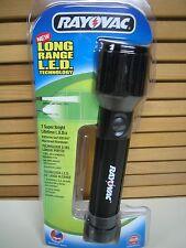 Rayovac 7-LEDs LONG-RANGE White LED Aluminum FLASHLIGHT, RED or BLUE Housing Ava