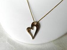 Lovely Modern! Ladies 14K Yellow Gold Diamond Heart Pendant