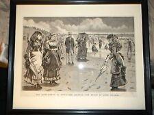 antique print original 1869 WINSLOW HOMER Appleton's Long Branch wood engraving