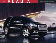2014 GMC Truck Acadia and Denali 32-page Car Dealer Sales Brochure Catalog