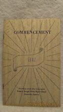 1947 Commencement Program F.J. Reitz High School Evansville IN With Grads' Names