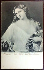 Early 1900's Postcard La Flora by Titian Held at The Uffizi Gallery in Florence