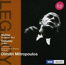 Dimitri Mitropoulos - Symphony 3 / la Mer [New CD]