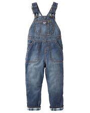 OshKosh Blue Plaid Flannel Lined Denim Overalls Infant Baby Boy 18 Months NEW