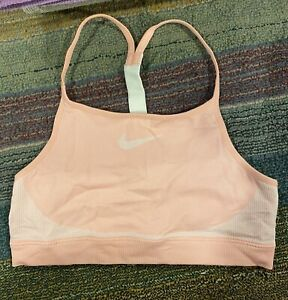 Nike Girls Large Racerback Sports Bra Peach