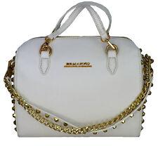 Borsa Bauletto Bianco Donna Ermanno Scervino Bag Woman White Linea New Anya Stud