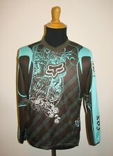 FOX For Riders Co. Graphic Brown & Teal Long Sleeve Logo T-Shirt Size XL