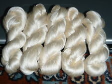 1 Skein - 300 Meters - 100% Silk Hand Embroidery Thread - Shiny - White