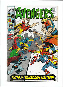 "AVENGERS #70 [1969 VG/FN] ""ENTER: THE SQUADRON SINISTER!""    SAL BUSCEMA ART!"