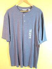 Covington Shirt Size Large Gray Rib Knit 100% Cotton Henley Pull-Over