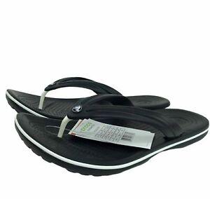 Crocs Crocband Men's Stylish casual Lightweight & comfy Flip flops Black size 10