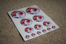 Vauxhall Badge Logo Emblem Racing Car Vehicle Decal Stickers Set