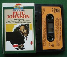 Pete Johnson King of Boogie Woogie Giants of Jazz Cassette Tape - TESTED