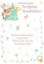 GRANDCHILDREN -  CHRISTMAS CARD dancing Santa Design Design
