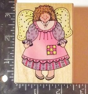COUNTRY ANGEL Wood Rubber Stamp by Hero Arts  for Scrapbook Stamping Crafts