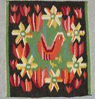 Vintage Swedish Flamsk Flemish Weave- Bird & flowers Design