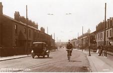 West End Road Haydock Motor Car Nr St Helens unused RP old pc A J Evans Preston
