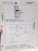 Vintage Sams Photofact Folder Radio Parts Manual Hudson Electronics Model 388