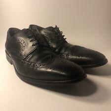 Men's Florsheim Black Leather Wingtip Brogue Oxford Dress Shoes Size 11 D