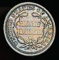 1858 O Seated Liberty Half Dime 5C High Grade Choice Good Silver US Coin CC6768