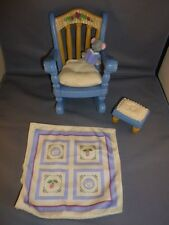 FISHER PRICE Briarberry Rocking Chair set blanket pillow foot stool rest mouse
