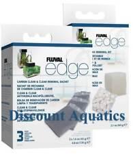 FLUVAL EDGE BIO FILTER FOAM SPONGE BIOMAX MEDIA-CARBON CLEAN AND CLEAR BUNDLE