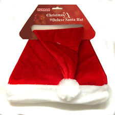 Deluxe Unisex Father Christmas Hat XMAS Santa Family Gift For Adult