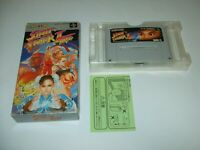 Street Fighter 2 Turbo Boxed Nintendo Super Famicom SFC Japan import