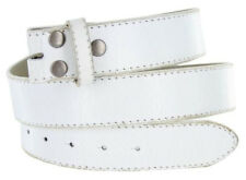 "VINTAGE DISTRESSED GENUINE LEATHER BELT BS 57 1-1/2"" - BRN, WHITE, DK BRN, BLACK"