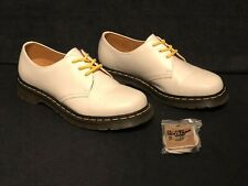New Women's 10 Dr. Martens 3 Eyelet Gibson Leather Lace-up Oxford # 11837 White