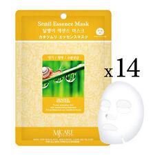 14pcs Korean Snail Essence Facial Mask Sheet, Moisture Face Mask Pack Skin Care