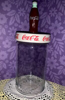 Vintage Coca Cola Themed Glass Jar With Sealing Decorative Coke Bottle Lid