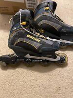 "BAUER In Line Roller Blades ""Xtra 6.0"" Aluminum Men US Size 9"