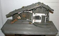 Krippe Weihnachten Holz 80 x 39 x 36 cm Krippenstall Weihnachtskrippe Gebäude