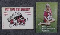 1966 & 1971 West Texas State (A&M) Football Media/Press Guides - CLEAN PUBS!
