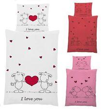 Bettwäschegarnituren für 60 ° - Wäsche mit Herzen-Motiv