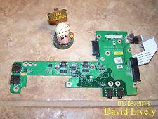DELL 4H3H8 INSPIRON 1570 I/O USB AUDIO BOARD 9W9RM CN-04H3H8 DA0UM2PI6C0 W/CBLS