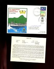 FDC  RNZN - 35th Annv loss of HMNZS MOA, 7 April 1943 signed