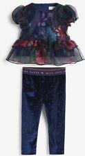 Ted Baker 3-4 years Girls Mesh Floral Top & Leggings Set, BNWT
