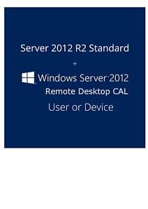 Server 2012 R2 Standard + Remote Desktop Services RDS 50 User/Device CALs