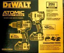 DeWALT DCK278C2 ATOMIC 20V MAX Lithium-Ion Brushless Cordless 2-Tool Combo Kit