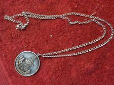 "24"" silver chain with bi-centennial pendant  (SH)  LOT # 12"