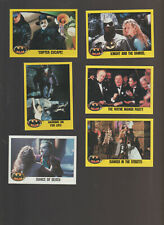 Lot of 6 Batman movie trading cards Published 1989