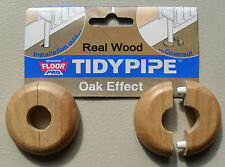TidyPipe real wood radiator pipe cover, wood laminate floors, oak effect, pack 2