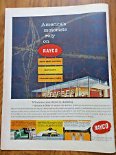 1958 Rayco Store Ad America's Motorists Auto Seat Cover Muffler Convertible Top