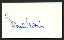 Paul Blair (d. 2013) signed autograph Baseball 3x5 Index Card 1034-62
