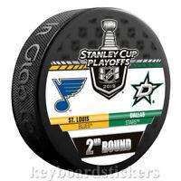 St. Louis Blues vs Dallas Stars 2019 Stanley Cup Playoffs Round 2 Hockey Puck